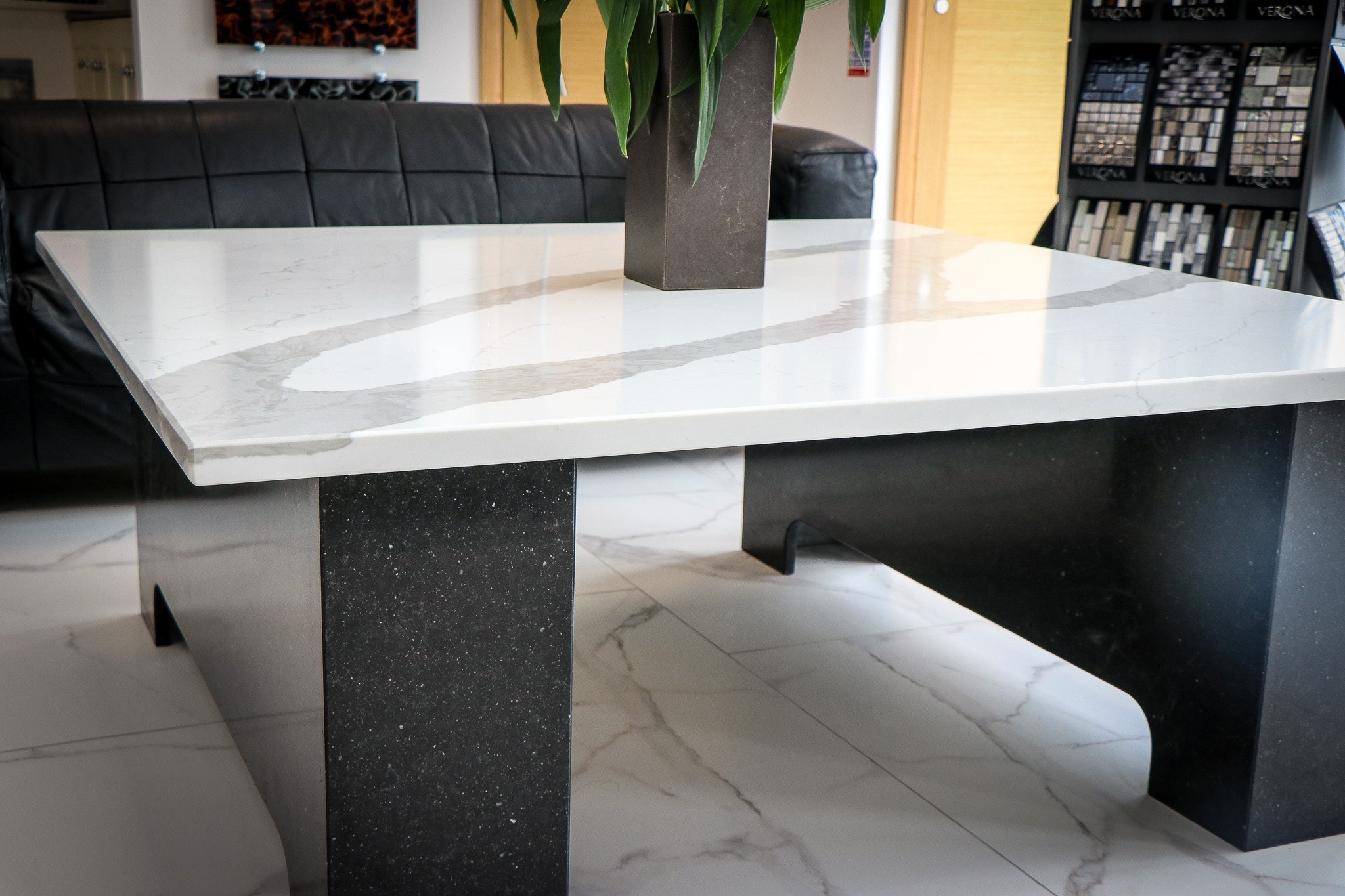 Granite and quartz bespoke tables