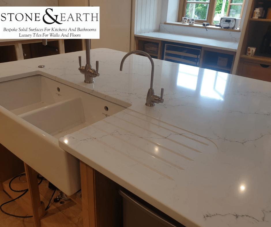 30mm unistone quartz Carrara Venatino