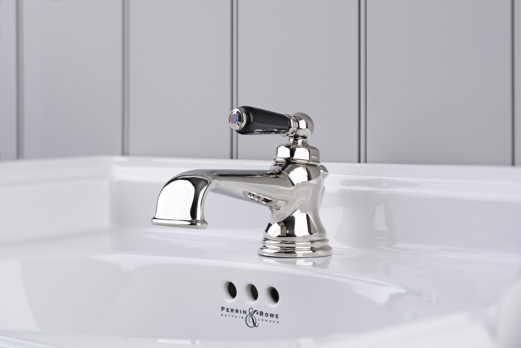 3670NI Traditional Single Lever Basin Mixer Nickel BPC-Perrin & Rowe stockist Worcestershire