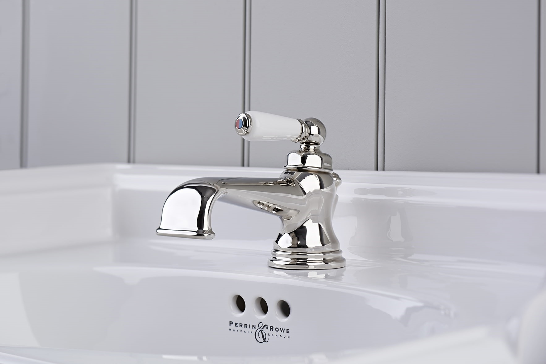 3670NI Traditional Single Lever Basin Mixer Nickel WPC-Perrin & Rowe stockist Worcestershire